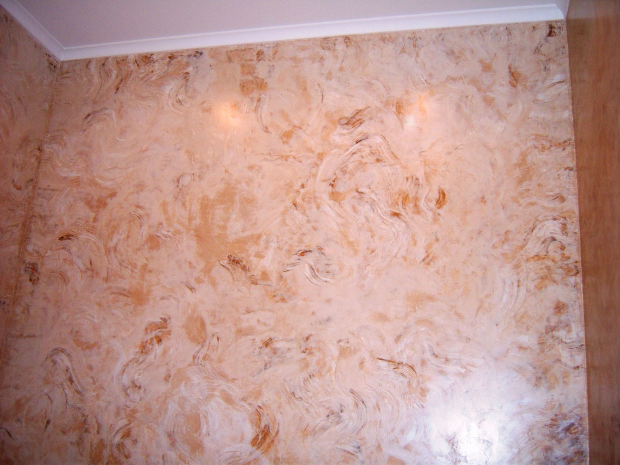 Декоративное покрытия стен своими руками 47
