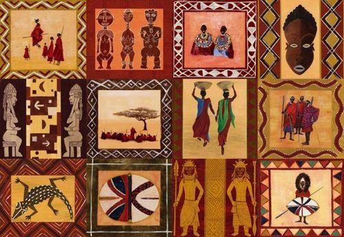 Африканский декупаж: картинки в стиле, темы для бутылок и мебель сафари 63