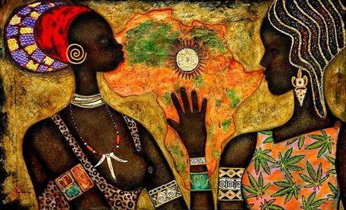 Африканский декупаж: картинки в стиле, темы для бутылок и мебель сафари 43