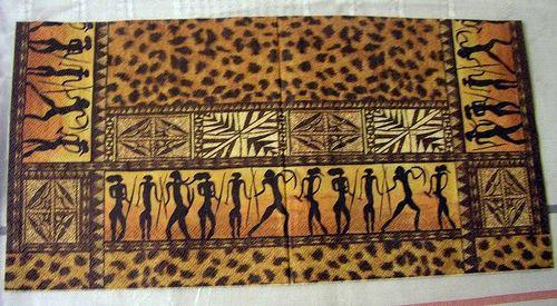 Африканский декупаж: картинки в стиле, темы для бутылок и мебель сафари 38