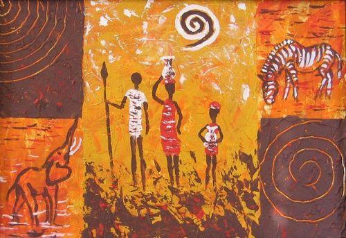 Африканский декупаж: картинки в стиле, темы для бутылок и мебель сафари 41