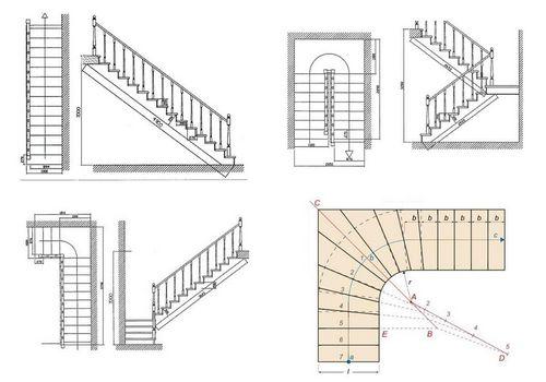 Расчет лестницы на второй этаж с поворотом на 180 своими руками фото 860