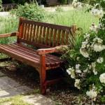 скамейка с подлокотниками