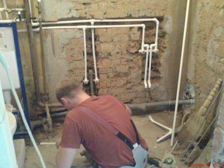 Очистка водопроводных труб без демонтажа